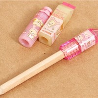pencil topper cap Rilakkuma bear as bunny bottle 3 pcs set - Pens-Pencils - Stationery