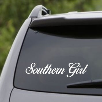 Small Version Southern Girl Car Truck Window Windshield Sticker Decal