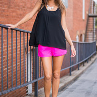 Bright This Minute Shorts, Hot Pink