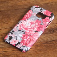 Red Floral Samsung Galaxy S7 Edge S7 Case Galaxy S8+  S3 Samsung Note 5/3/2 Cover S7-018