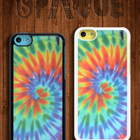 Tie Dye Bright Design Apple iPhone 5c Durable Hard Case - In Multiple Colours - Hipster Indie Grunge Vintage Tropical Summer Tumblr