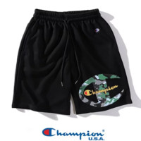 Champion New fashion letter camouflage print couple shorts