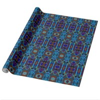 Bohemian ornament in ethno-style, Aztec Wrapping Paper