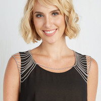 Statement Shoulder to Gleam On Chain by ModCloth