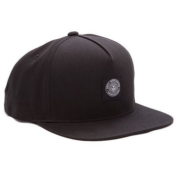 Obey Downtown Snapback Hat Black Baseball Caps