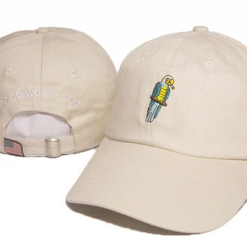 Khaki Parrot Embroidered Baseball Cap Hat