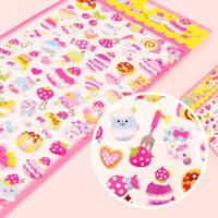 Buy Kawaii Macaron Decora Sponge Stickers at Tofu Cute
