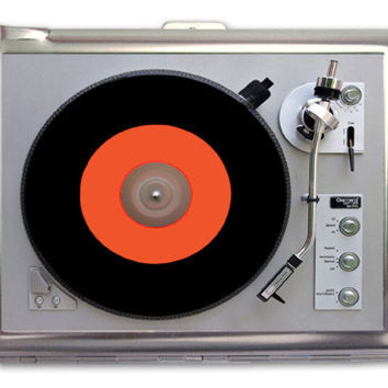 Turntable Record Player Retro Cigarette Case Lighter or Wallet Business Card Holder