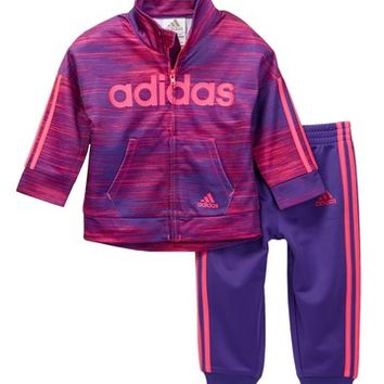 adidas | Speed Heather Tricot 2-Piece Set (Baby, Toddler, & Little Girls) | Nordstrom Rack