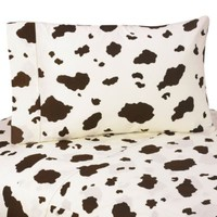 Sweet Jojo Designs Cowgirl Cow Print Sheet Set