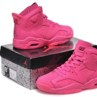 Air Jordan 6 Pink Sport Basketball Shoe