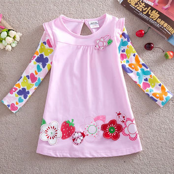 Girls t-shirt Nova kids children clothing girls anna elsa tops spring autumn long sleeve fashion tops infant girl clothes F2275