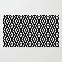 Black & White Pattern Rug by Christina Rollo | Society6