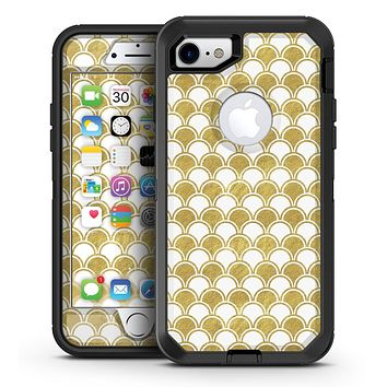 White and Gold Foil v3 - iPhone 7 or 7 Plus OtterBox Defender Case Skin Decal Kit