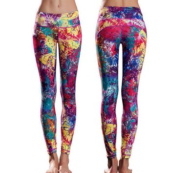 Psychedelic Graffiti - Women's HQ-Printed Sexy Gym Leggings
