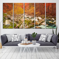 64933 - Forest Wall Art- Autumn Canvas Print- Forest Canvas- Forest Canvas Art- National Art Print- Canvas Print- Large Wall Art-