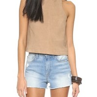 Rachelle Suede Crop Top