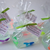 """Children's Soap """" Fish in a Bag Soap"""" Gifts, Bath, Favors, Birthday Gifts, Parties, Glycerin Soap, ACOFT,  OFG team, WIB"""