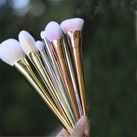 7pcs Makeup Cosmetic Brushes Set Powder Foundation Eyeshadow Eyeliner Lip Brush Tool
