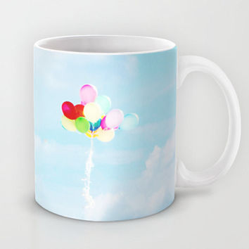 Sky Coffee Cup - Balloon Coffee Mug - Cloud Coffee Mug - Coffee Mug - Coffee Cup - Sky Blue Photo - Sky photography - Cloud Photograph