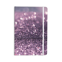 "Debbra Obertanec ""Lavender Sparkle"" Purple Glitter Everything Notebook"