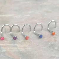 Glitter Nose Screw Nose Ring