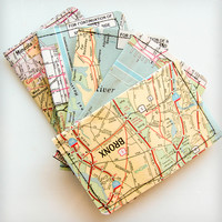 Vintage New York Map Wallet