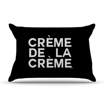 "Geordanna Cordero-Fields ""Creme De La Creme"" Black White Pillow Case"