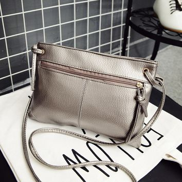 Women's PU Leather Small Cross Body Shoulder Bag Tote Purse With Single Strap