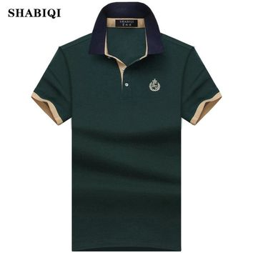 2018 brand Summer style Men's Regular Slim Lapel Embroidered Polo Shirts cotton men casual tops tees man poloshirts 7XL 8XL 9XL