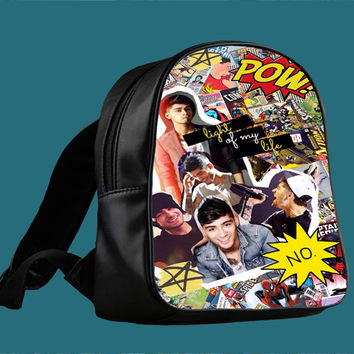 Zayn Malik comic collage for Backpack / Custom Bag / School Bag / Children Bag / Custom School Bag *