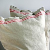 Mangle Cloth Pillow from Antique German Mangle by zinniacottage