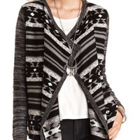 Aztec Cascade Cardigan Sweater by Charlotte Russe