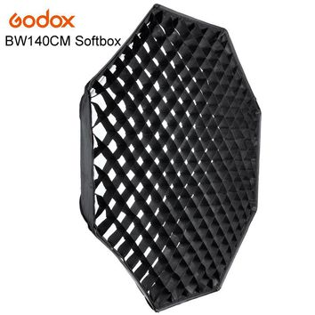 "GODOX Studio Photography 140cm/55"" Octagon Softbox with Grid Honeycomb Photo Soft Box Bowens Softbox with Carrying Bag"