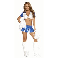 Sexy Dallas Cheerleader Girl Halloween Costume