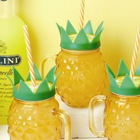 Pineapple Mason Jar Drink Glasses