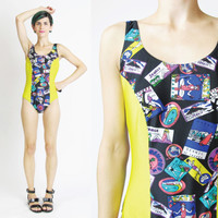 Vintage One Piece Swimsuit (XS/S)