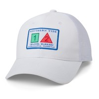 Channel Marker Trucker Hat in White by Southern Tide