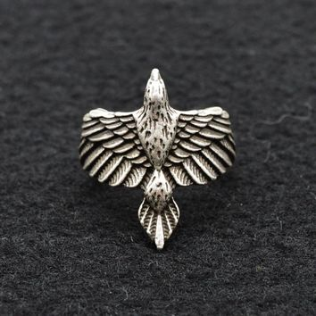 Men's Beautiful Viking Raven Rings Talisman Eagle