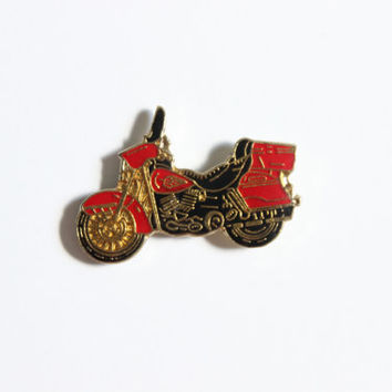 FREE SHIPPING! Vintage Motorcycle Enamel Lapel Pin Retro Biker Pin Vintage Pin Hipster Buttons Pins Collectible