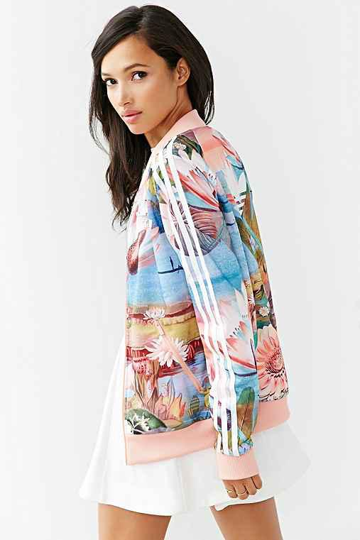 Adidas originals curso track jacket from urban outfitters for Adidas floral shirt urban outfitters