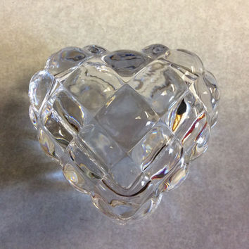 Beautiful clear crystal ring box, wedding, ring bearer box, heart, ring keeper, wedding day, trinket box, gift, shower gift, trinket box