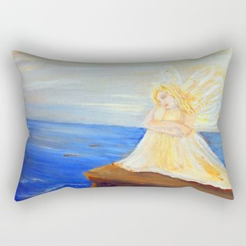 Invite your Angel | Angels are here Rectangular Pillow by Azima