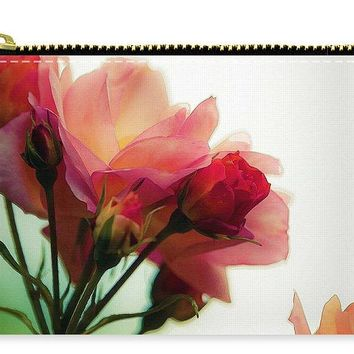 Watercolor  Pink Roses - Carry-All Pouch