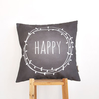 "Modern Kids Pillows, Nursery Pillow, Decorative Pillow, Teen Pillow, Throw Pillow, Chalkboard Pillow 16"" x 16"""