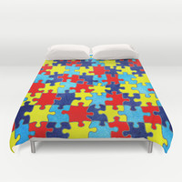 Autism Awareness Duvet Cover by Inspired By Fashion
