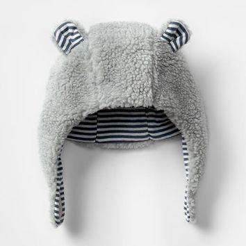 Gap Stripe Lined Sherpa Bear Hat