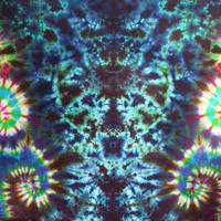 "Swirling Water Totem Tie Dye Tapestry - Wall Hanging, Size... 56""W  X 33""H - Ready To Ship"