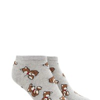 Teddy Bear Print Ankle Socks