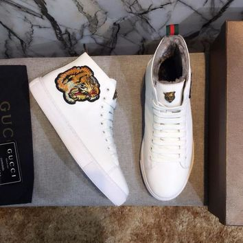 cc auguau Gucci Hightop WINTER Tiger With FUR